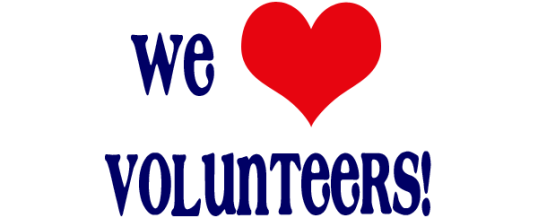 Volunteer Appreciation Dinner: Tuesday, May 2 at 6 pm